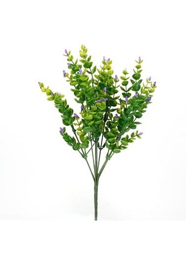 Çiçekmisin Kuş Dal Yapay Yeşillik Lila